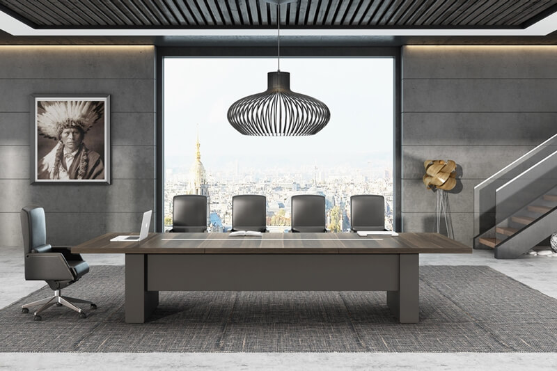 GOJO modern 12 foot conference table for business for conference room-1