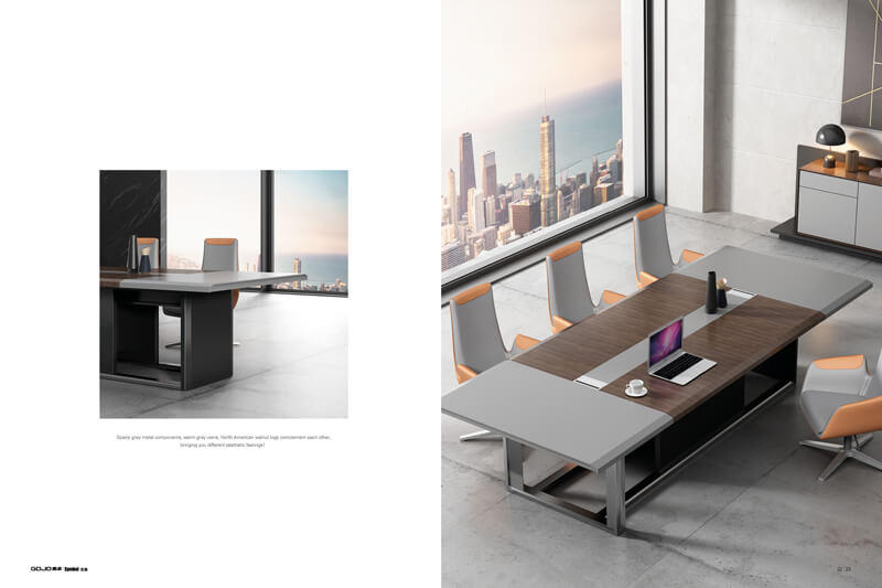 Custom industrial conference table brown manufacturers for reception area-2