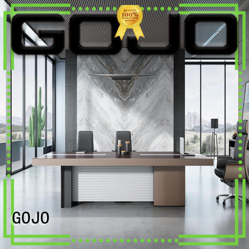 GOJO binz white conference room table with double-deck baffle for executive office