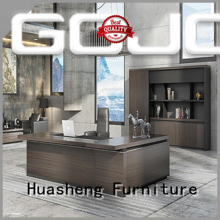 GOJO wision luxury office desk with side lock drawer for ceo office