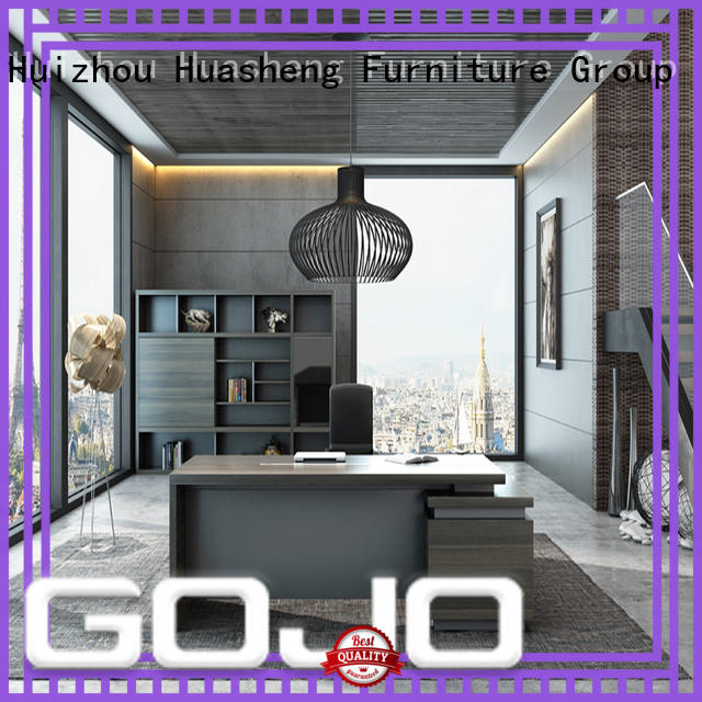 GOJO veiye ceo furniture with front lock drawer for ceo office