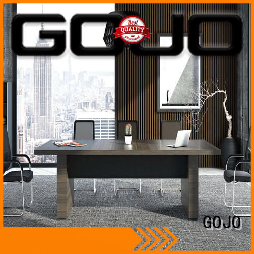 GOJO long office conference table with front lock drawer for boardroom