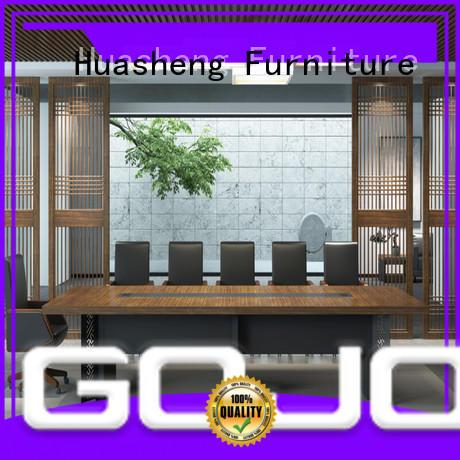 GOJO borill black conference table manufacturer for boardroom