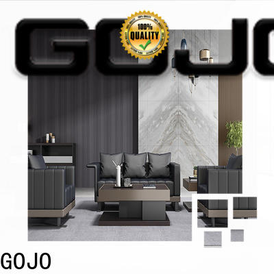 GOJO leather couch set for reception area