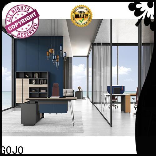 GOJO Custom black executive desk for executive office