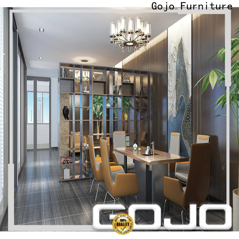 GOJO black leather reception chairs manufacturers for lounge area