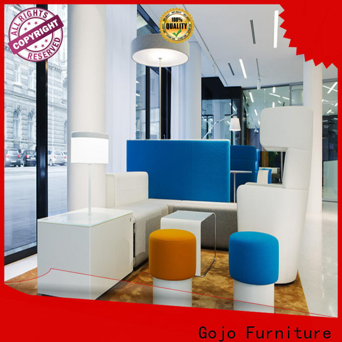 GOJO leather reception sofa Suppliers for reception area