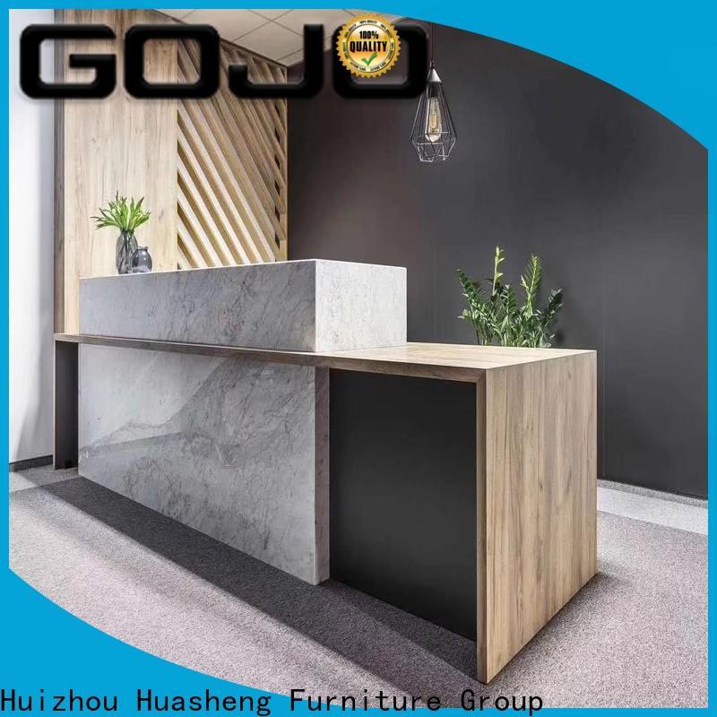 modern office front desk Supply for sale