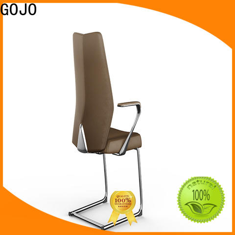 GOJO stackable white conference chairs for training area