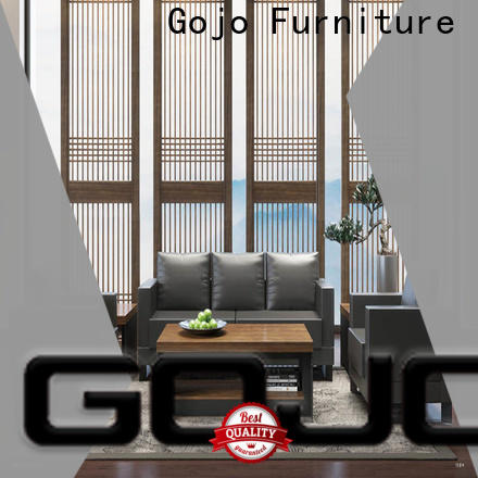 GOJO ruiyi black leather reception chairs factory for guest room