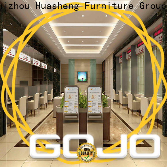 Gojo furniure Best bank counter table Supply for ceo office