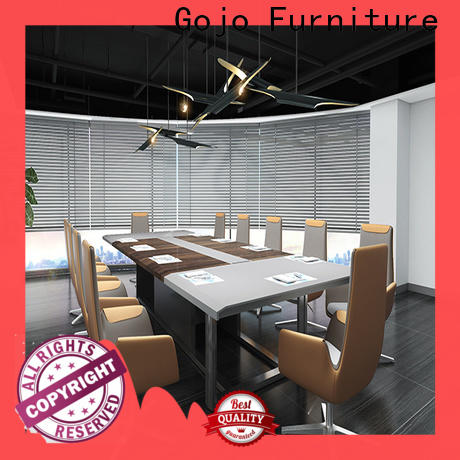 Custom industrial conference table brown manufacturers for reception area