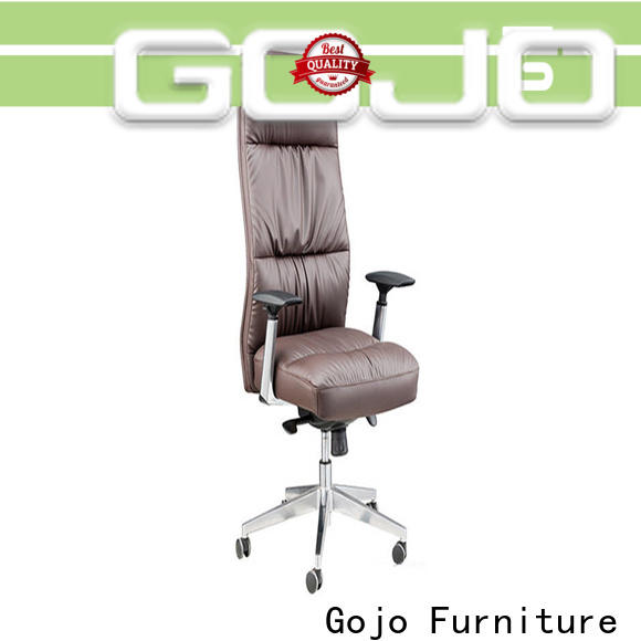 Gojo furniure modern genuine leather office chair company for lounge area