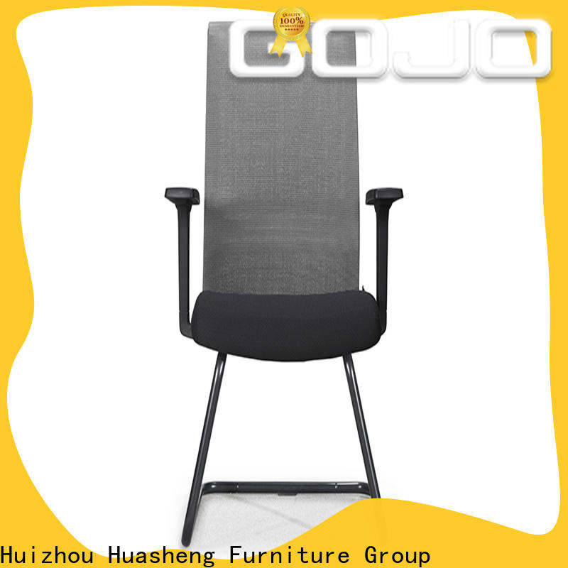 Gojo furniure back real leather executive chair Supply for reception area