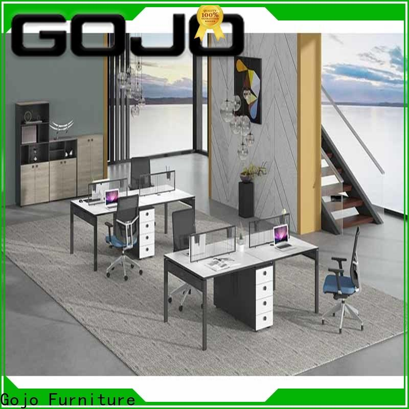 Gojo furniure brand office staff table factory for reception area