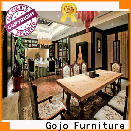Gojo furniure Custom cafeteria style table manufacturers for guest room