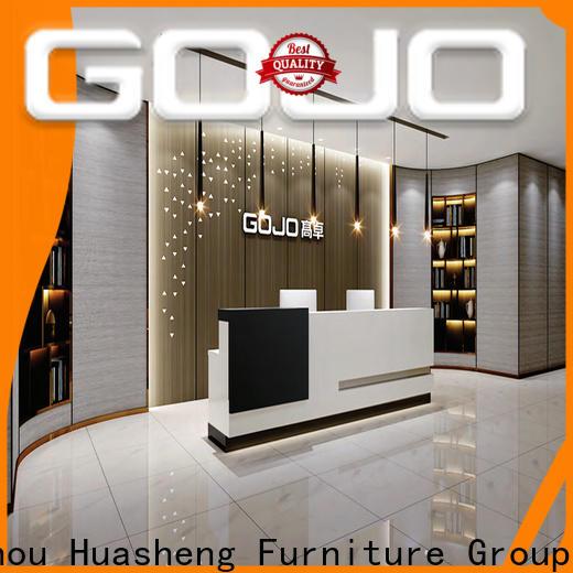 Gojo furniure screens steel office table manufacturers for reception area