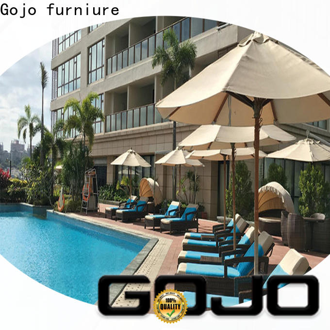 Gojo furniure outdoor portable outdoor furniture company for lounge area