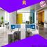 Gojo furniure wooden linear workstation company for reception area