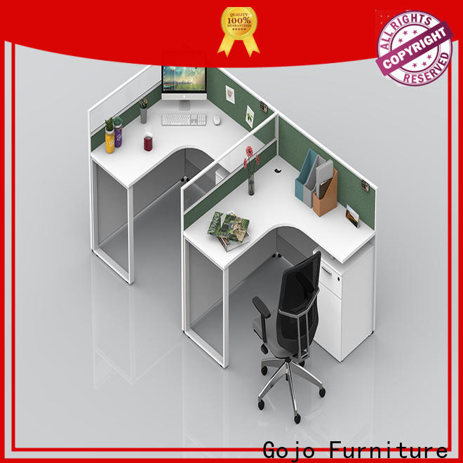 Gojo furniure lshape office work table factory for lounge area