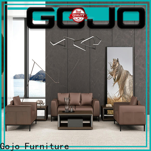 Gojo furniure three coffee table for l shaped couch Supply for ceo office