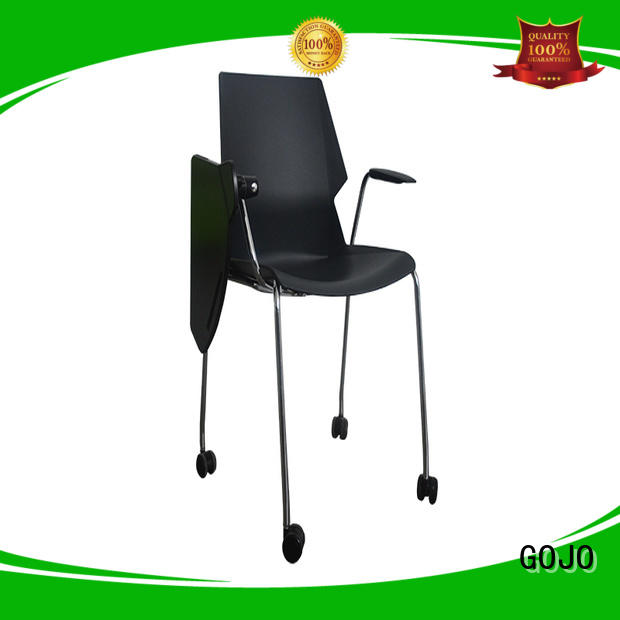 black lounge chair for reception area GOJO