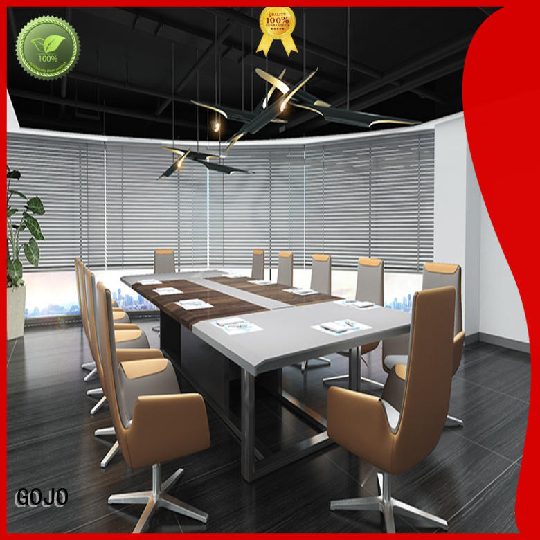 GOJO namy narrow conference table with front lock drawer for conference room