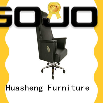 calvin tall office chair with five-star movable foot for ceo office