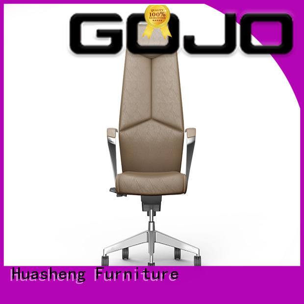 calvin black office chair with aluminium foot for ceo office