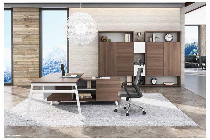 black executive office desk supplier for sale GOJO-1
