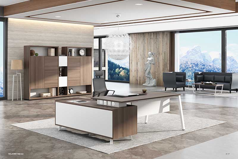 black executive office desk supplier for sale GOJO-2