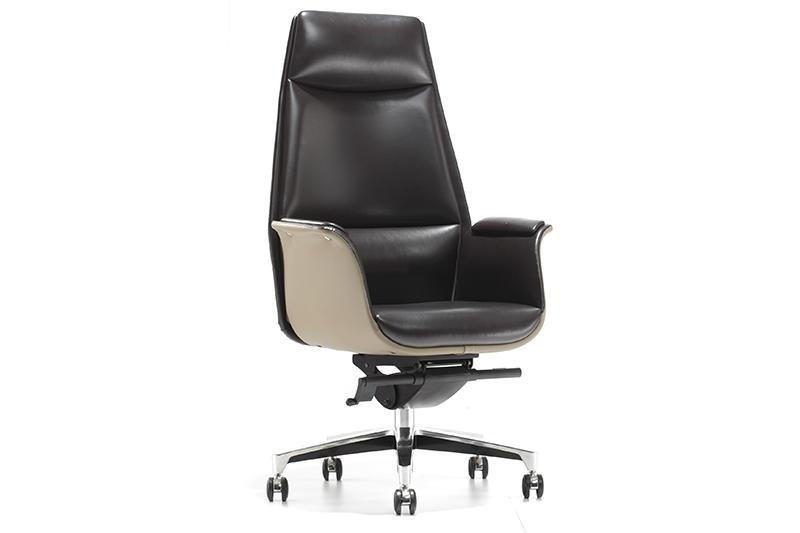 Black Leather Office Chair VEIYI OFFICE CHAIR