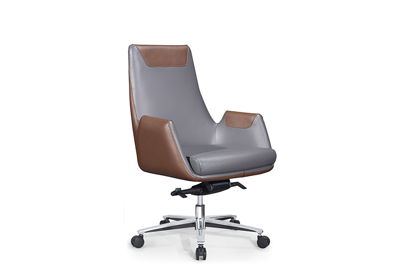 GOJO calvin executive leather office chair with new white paint feet for boardroom-1