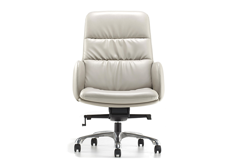GOJO calvin black leather executive chair with new white paint feet for boardroom-1