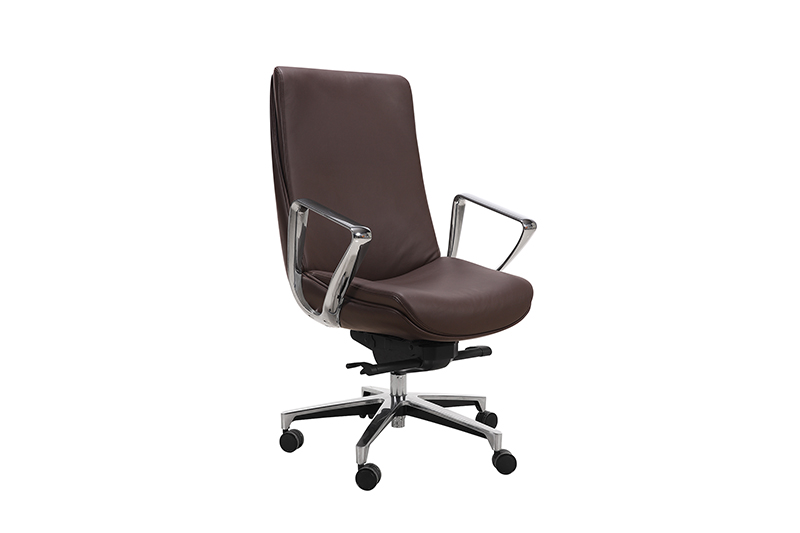 mesh chair with aluminium alloy feet for boardroom-1