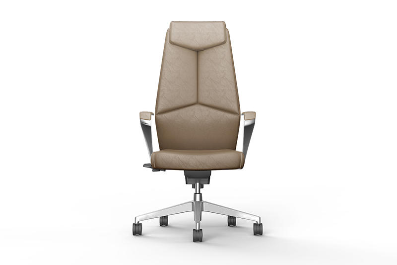 Leather Swivel Office Chair CALVIN CEO CHAIR