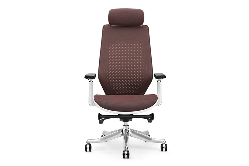 brown executive chair with new white paint feet for executive office GOJO-1