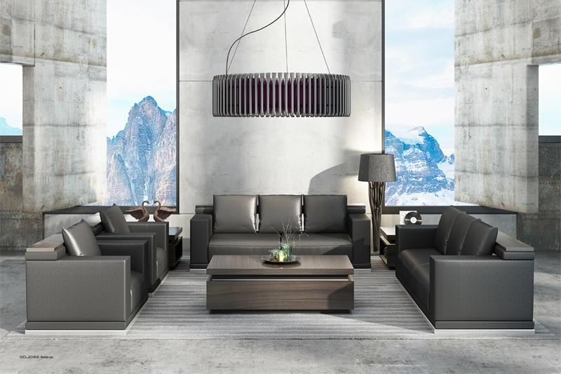 RECHE RECEPTION SOFA Leather Sofa Set