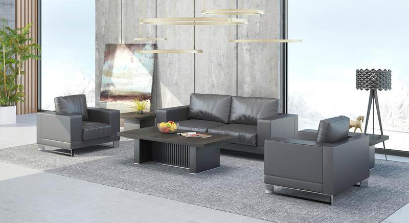 Leather Waiting Room Furniture BORILL RECEPTION SOFA