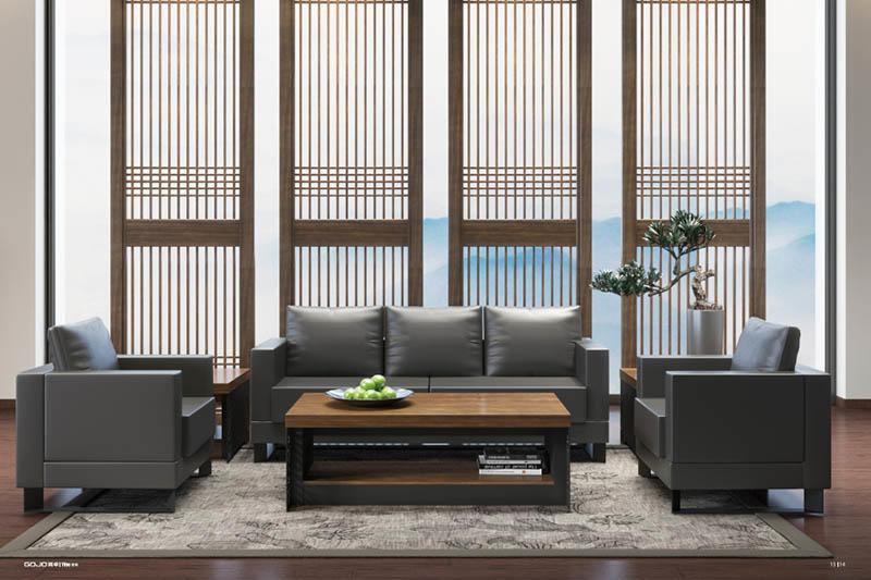 YIHE RECEPTION SOFA Furniture Sets CEO office sofa Three seater  pure leather sofa