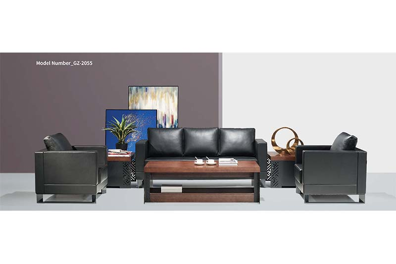 GOJO leather waiting room furniture for lounge area-1
