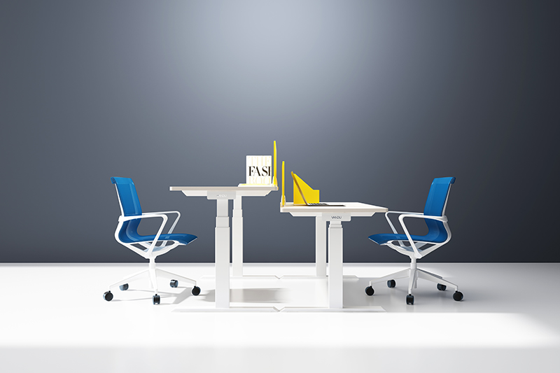GOJO ultra adjustable table with receiving box for staff room-1