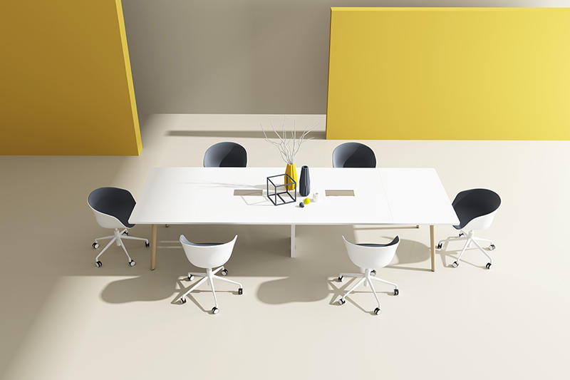 MODERN CONFERENCE TABLE white color fashion design