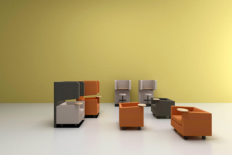 RECEPTION/LOUNGE OFFICE FURNITURE SET Colorful Stylish Lounge Chairs
