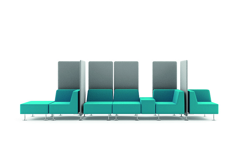 GOJO reche couch and chair set for business for reception area-2
