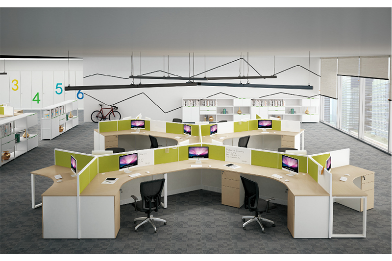 Custom long computer desk table Suppliers for clerk area-1