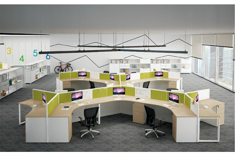 Custom long computer desk table Suppliers for clerk area