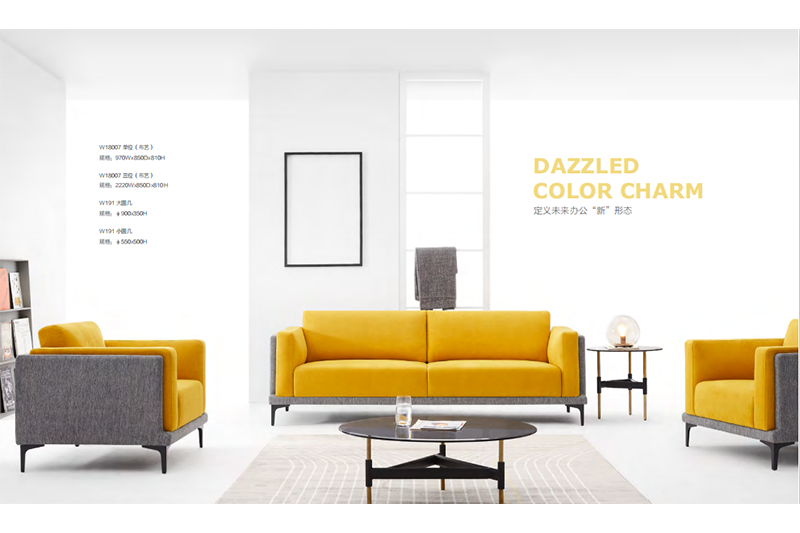 BRIGHT YELLOW SOFA SET DIRECT SALE FROM FACTORY