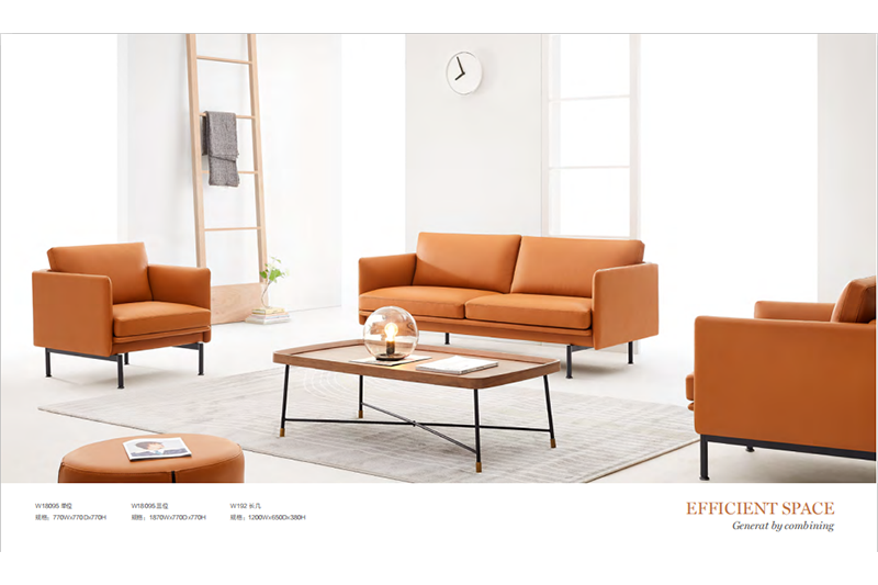 LOW COST  LEATHER RECEPTION SOFA SET