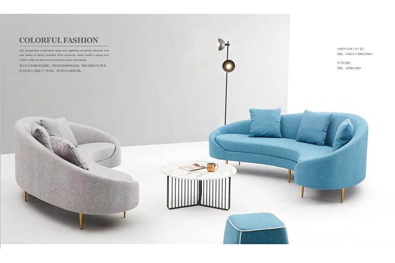 GOJO trend salon waiting room furniture sofa for lounge area-1